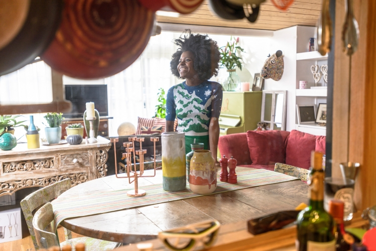 Freddie Harrel in her south London home by Dan Lowe for Habitat Voyeur campaign