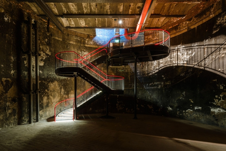 Brunel Museum staircase designed by Tate Harmer