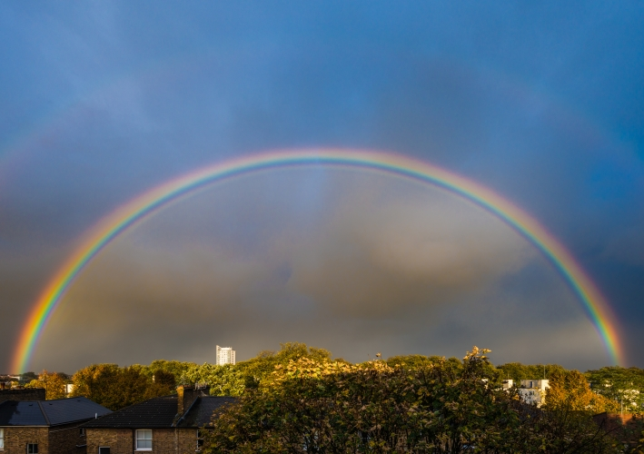 Rainbow over Dalston, Hackney, by Dan Lowe